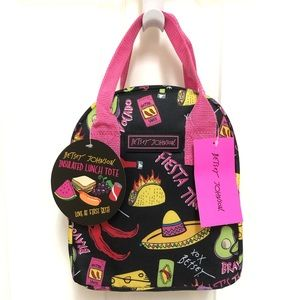 🌮 Betsey Johnson FIESTA TACO Insulated Lunch Tote